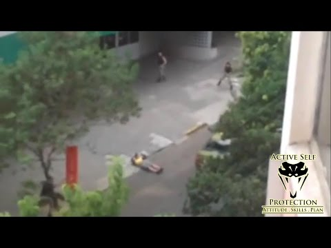 Wild Shootout Between Cops and Armed Robbers