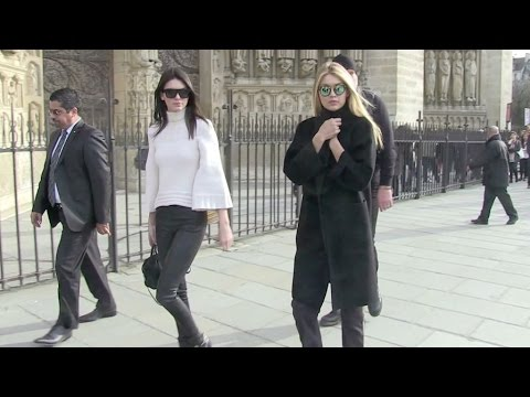 EXCLUSIVE - Kendall Jenner and BFF Gigi Hadid visit Notre Dame in Paris