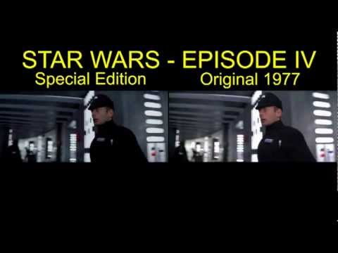 Star Wars IV Special Edition Comparison Death Star Battle