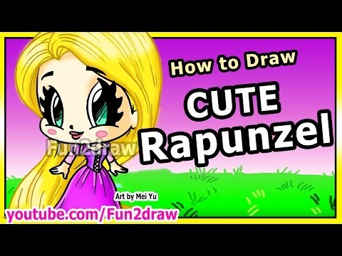 How To Draw Disney Princesses & Characters - Rapunzel From Tangled - Fun2draw Art Drawing Lessons video