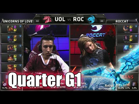 Unicorns of Love vs ROCCAT | Game 1 Quarter Finals S5 EU LCS Summer 2015 Playoffs | UOL vs ROC G1 QF