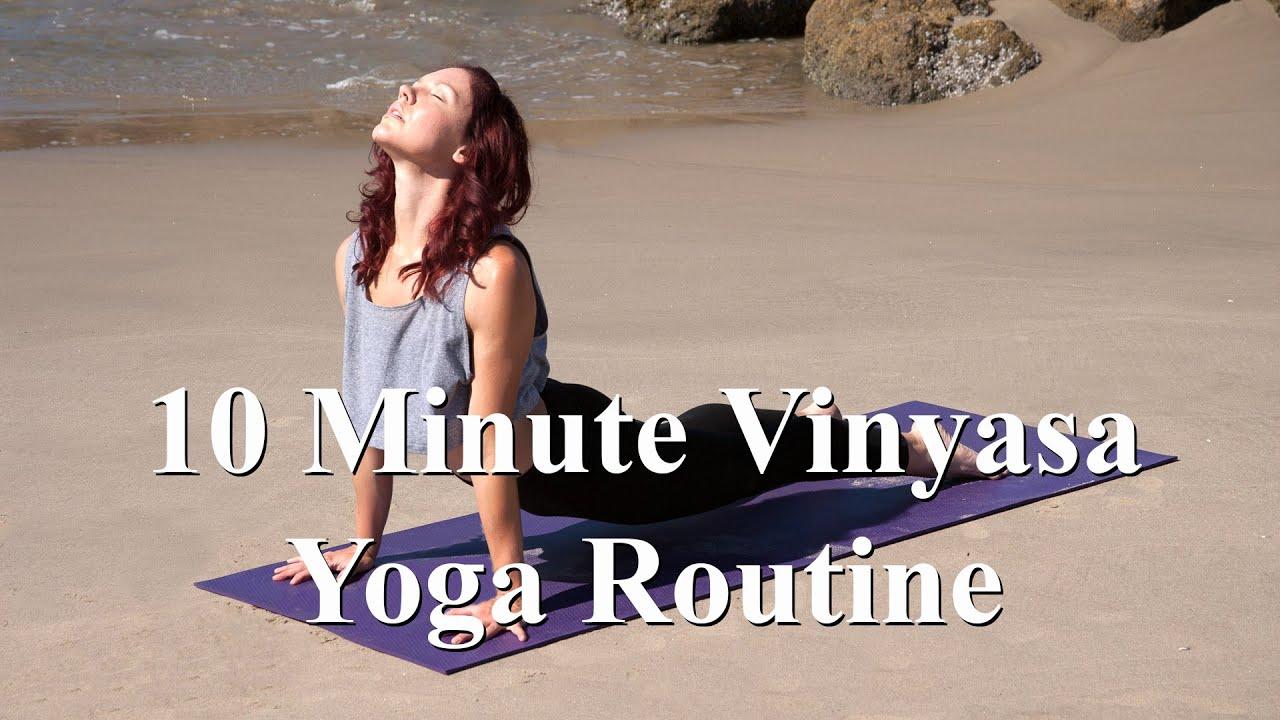 Intermediate Vinyasa Yoga Routine - YouTube