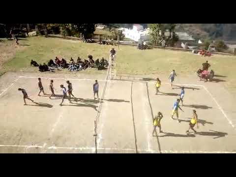 Okhimath m voolleyball ka final match..