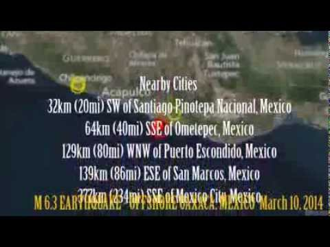 M 5.9 EARTHQUAKE - OFFSHORE OAXACA, MEXICO  March 10, 2014
