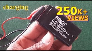 How to charge 4v lead acid battery