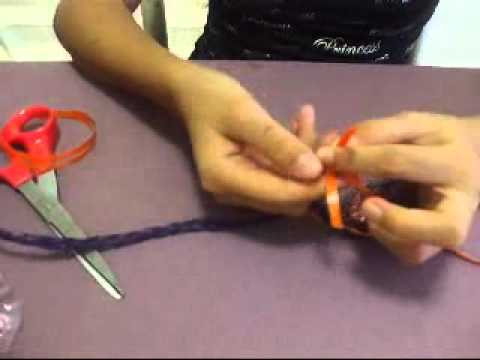 How To Make A Candy Lei Tutorial - YouTube