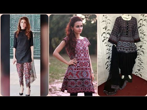Latest Designs Of Ajrak Print Dresses For Girls || Trendy Fashion