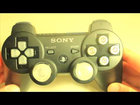 MrModz - Black Sony Modded PS3 Controller - Bullet Buttons- LED Thumbsticks/Dpad - MasterMod