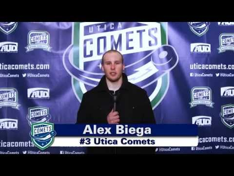 "Utica Comets Season Tickets ""Alex Biega"