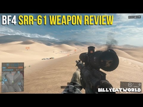 Battlefield 4 (PS3) - SRR-61 Weapon Review - Long Range Sniper Rifle (BF4 Gamepl
