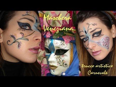 Maschera Veneziana CARNEVALE trucco artistico – Makeup tutorial