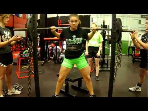 Jailey Mauldin 148  & Keleigh Salazar 123 Powerlifting Training 01/06/13 @ BAG Image 1
