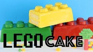 GIANT LEGO CAKE | Easy LEGO Brick Cake | Elise Strachan | My Cupcake Addiction