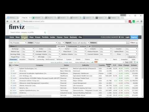 Как отбирать акции на сайте Finviz.com