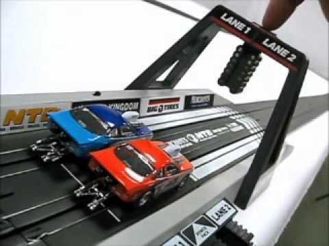 NHRA Drag Race Slot Car Set.wmv
