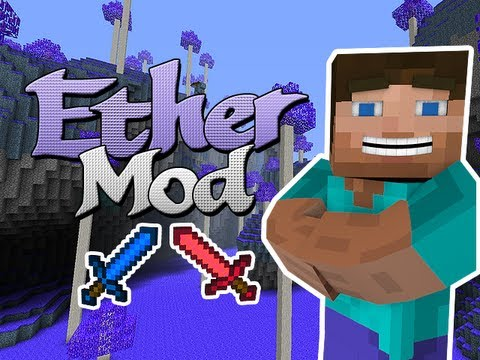 Minecraft Mods - Ether Mod - New Mobs. Bosses. Tools. and FLYING PIGS!!!