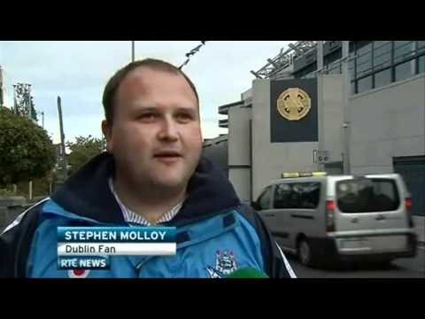 Mystery Dublin Fan Joins Dublin Team Post-Match Celebrations