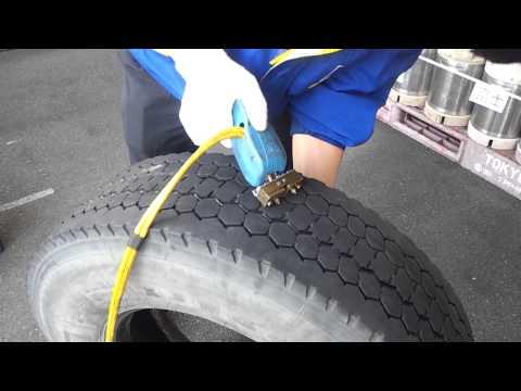 Как нарезать протектор на грузовой шине своими руками 33