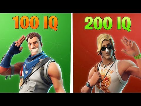 100 IQ PLAYER vs 200 IQ PLAYER in Fortnite Battle Royale
