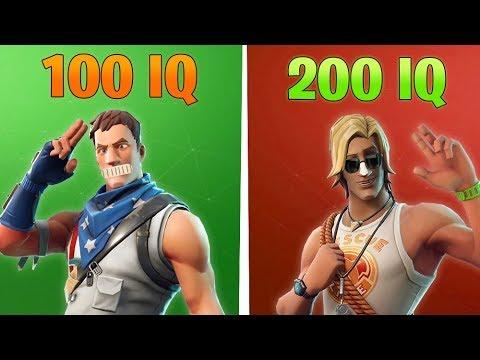 100 IQ PLAYER vs 200 IQ PLAYER in Fortnite Battle Royale