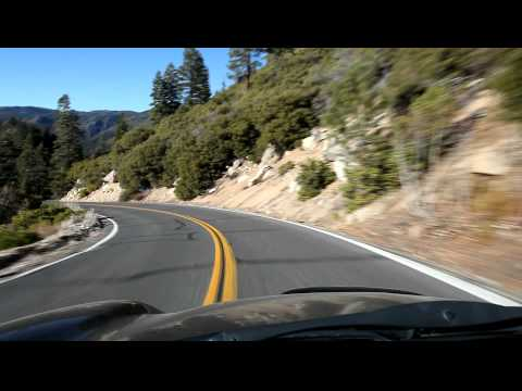 MINI Cooper S going through Stanislaus National Forest