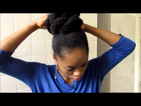 tuto coiffure faux chignon avec frange youtube. Black Bedroom Furniture Sets. Home Design Ideas