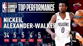 Nickeil Alexander-Walker Leads Pelicans to the Semis | July 13, 2019