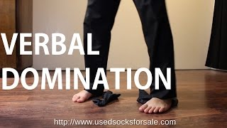 Verbal Domination & Sweaty Nylon Dress Sock Fetish