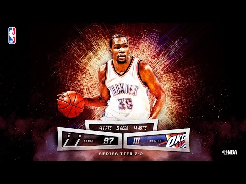 Kevin Durant Ties Playoff Career-High with 41 Points on Mother's Day