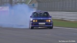 1100HP BMW E30 M3 w/ 2JZ Toyota Supra Engine! - Crazy Drifts!