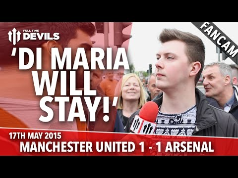 'Di Maria Will Stay!' | Manchester United 1 - 1 Arsenal | Fancam