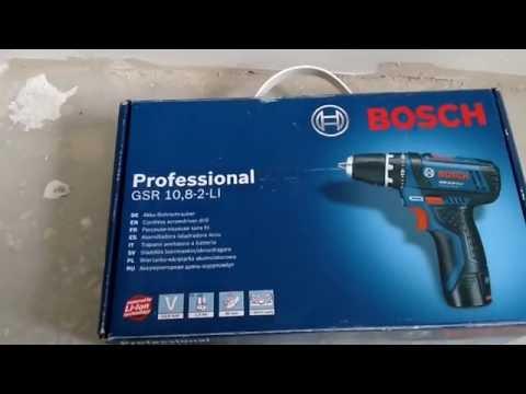 Шуруповерт BOSCH GSR 10.8-2-LI  обзор...\Screwdriver Bosch GSR 10.8-2-Li  review...