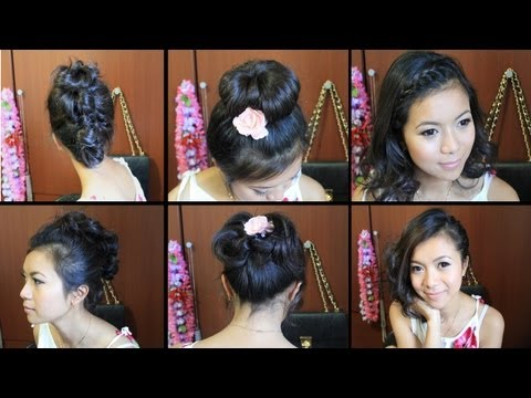 Cute Hairstyles for Short Medium Hair Tutorial