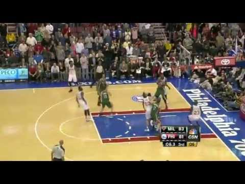 Milwaukee Bucks Vs Philadelphia 76ers (Highlights November 12,2012)