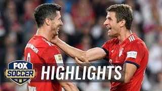 Lewandowski and Muller team up to score a late game goal | 2018-19 Bundesliga Highlights
