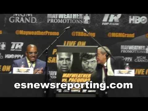 Full Video Floyd Mayweather vs Manny Pacquiao Full Presser - esnews boxing