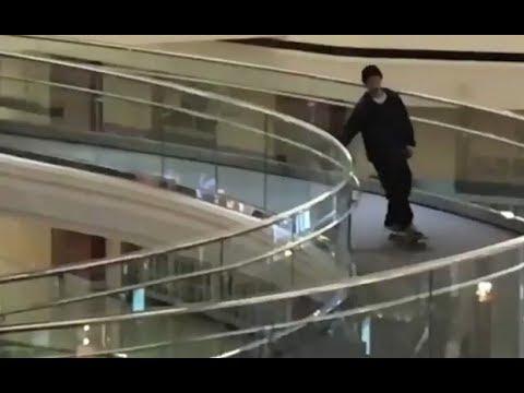 INSTABLAST! - Skateboarding INSIDE MALL!! Civilian Freakout!! Nollie Bs 270 Kickflip Late BigSpin!!