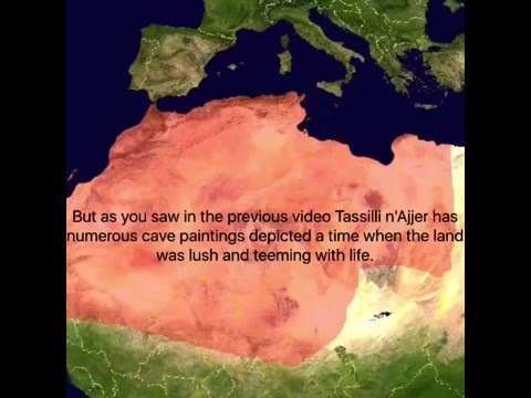 Ancient Alien paintings at Tassilli n'Ajjer in North Africa. African Alien Ufo Legend History