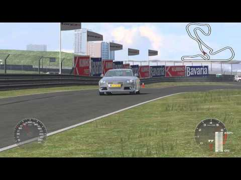 Audi TT on Zandvoort with DirectShow export in Dolphinity Racer