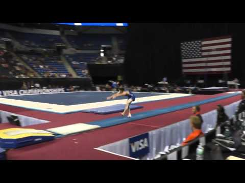 David Sender -  yurchenko double pike! (day 1)