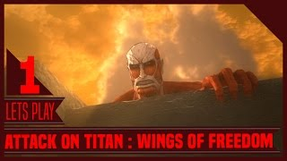 THE BEST ANIME GAME RELEASED?! | Attack on Titan : Wings of Freedom - Ep 1