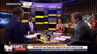 Shannon Sharpe and Rob Parker Confronts Joy Taylor On Colin Kaepernick's Fidel Castro T-shirt