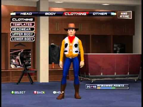 Tutorial How to Make Woody (Toy Story) On  WWE Smackdown VS Raw 2011