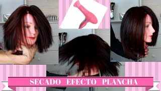 Secado liso plancha. Brushing