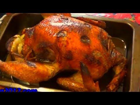 Как приготовить курицу с яблоками - видео