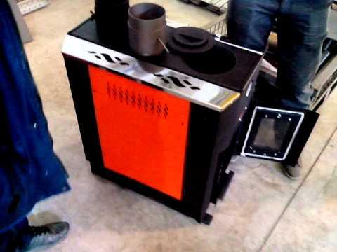Печка на отработке с водяным контуПортфолио для