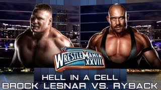 WWE 13 | Ryback vs Brock Lesnar | Hell In A Cell