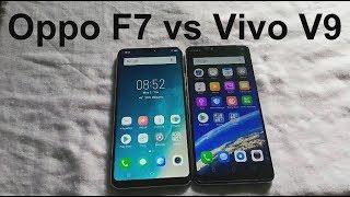 Oppo F7 vs Vivo V9 Comparision : Speed test, Camera, Fingerprint, Face ID