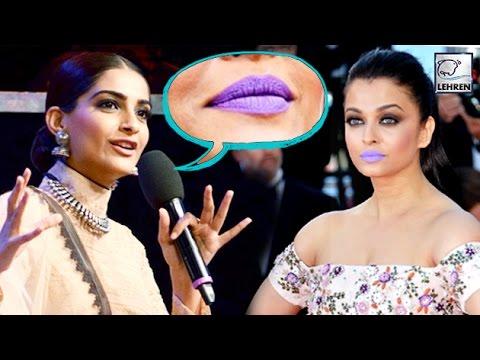 Sonam Kapoor's BITCHY Comment On Aishwarya's Purple Lips | LehrenTV