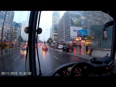 Warszawa, Godziny Szczytu. Przejazd Autobusem Z Centrum Miasta Do Bazy, Część 1